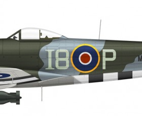 """Vailly 97"""" Hawker Typhoon"""
